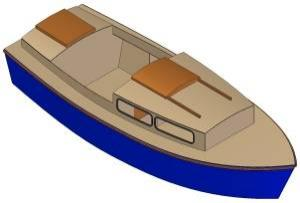 17ft Motorboat - Boat plans - Pictures
