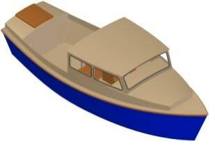 27ft Motorboat - Boat plans - Pictures