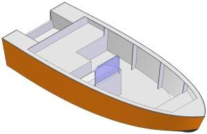 14ft Motor dinghy - Boat plans - Pictures