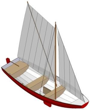 17ft Norwegian pram - Boat plans - Pictures