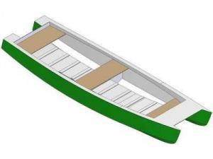 15ft Row catamaran - Boat plans - Pictures