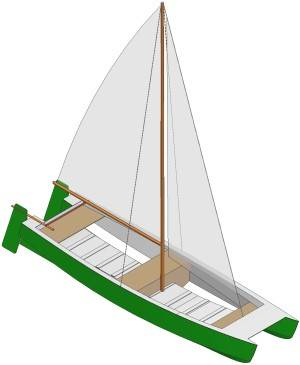 15ft Sail catamaran - Boat plans - Pictures