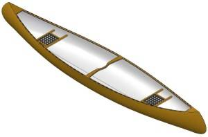 17ft Strip plank canoe - Boat plans - Pictures