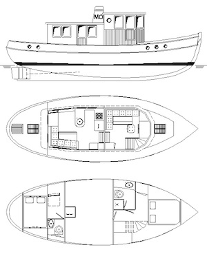 40ft Tugboat - Take five - Boat plans - Pictures