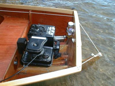 Inboard on the 12-foot rowboat, wow ... more info please.